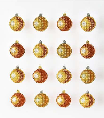 Miniart Crafts Złote bombki bożonarodzeniowe, wielokolorowe, jeden rozmiar