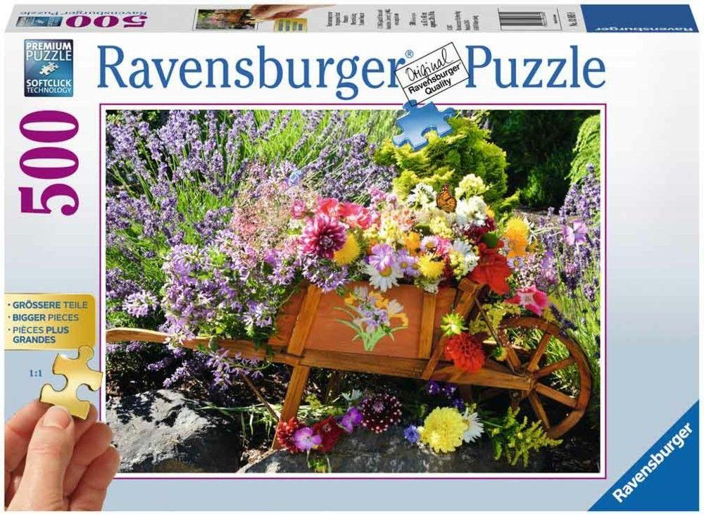 Puzzle Raven 500 - Kwiaty, Flowers