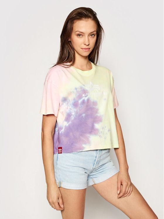 Alpha Industries T-Shirt Basic T Batik 116083 Kolorowy Oversize