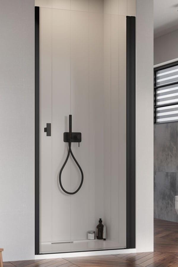 Radaway Nes Black DWJ I Drzwi wnękowe 80 cm prawe, szkło przejrzyste, wys. 200 cm. 10026080-54-01R