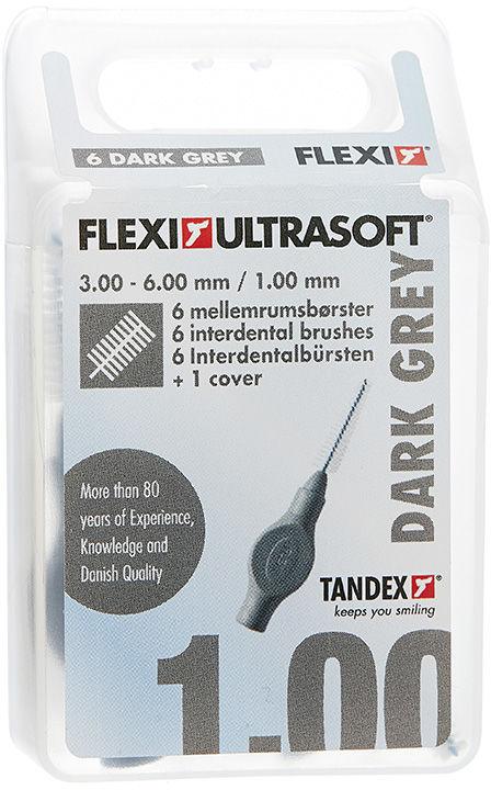 Tandex ( 6 szt.) Flexi Ultra Soft Dark Gray 3,00- 6,00 mm trapered