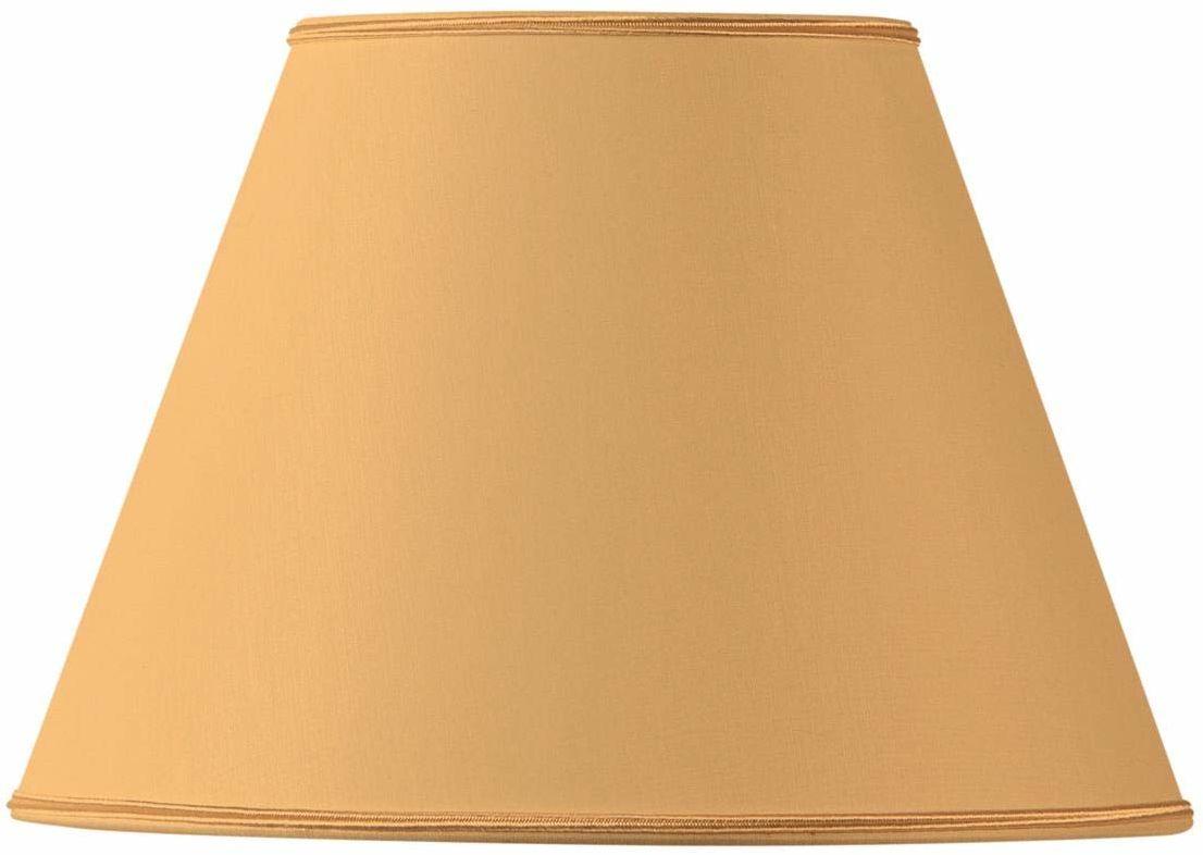 Klosz lampy z materiału, stożkowy, 25 x 13 x 18 cm, żółty