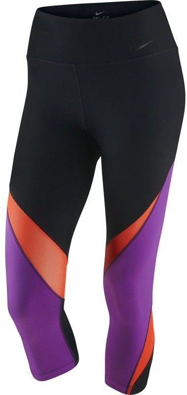 legginsy damskie 3/4 NIKE LEGENDARY CAPRI FABRIC TWIST / 725080-010