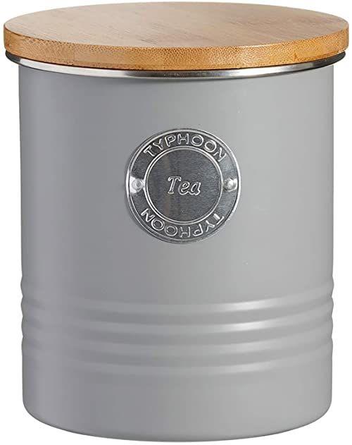 Typhoon Living szczelny pojemnik na herbatę z bambusową pokrywką, szary, 1 litr