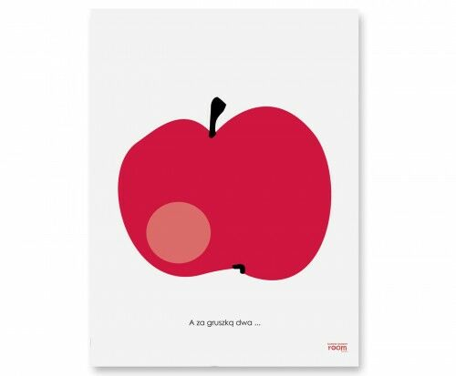Plakat Jabłko w białej lub czarnej ramce