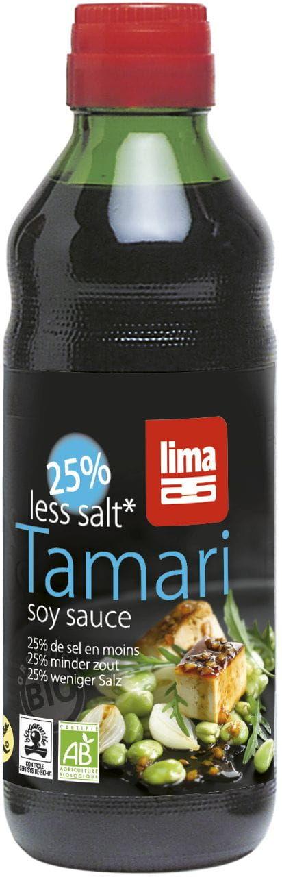 Sos sojowy tamari 25% mniej soli bezglutenowy bio 250 ml - lima