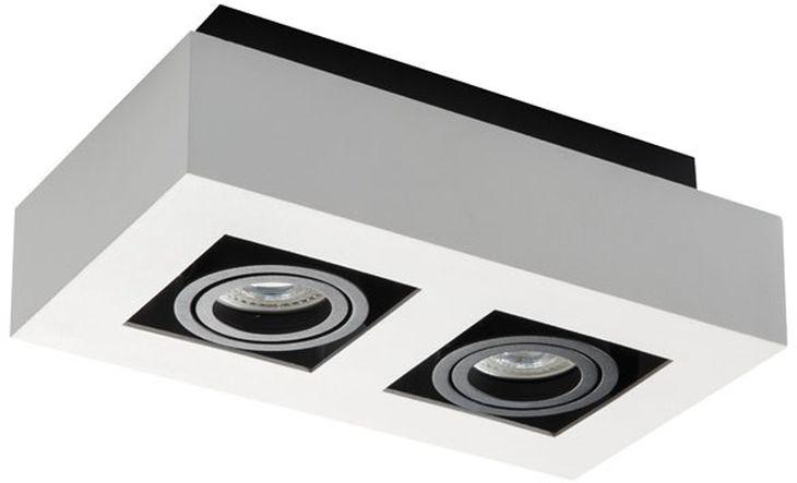 Oprawa punktowa sufitowa 2x50W GU10 STOBI DLP 250-W biała 26833