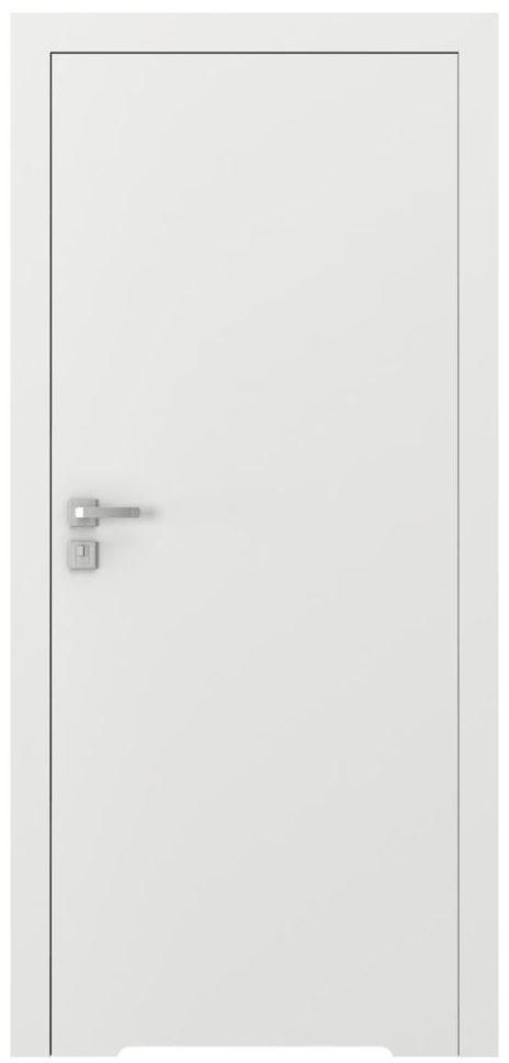 Skrzydło drzwiowe bezprzylgowe z podcięciem wentylacyjnym Vector T Białe 90 Prawe Porta
