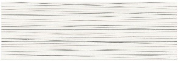 Dekor Ecosta Cersanit 25 x 75 cm white stripes
