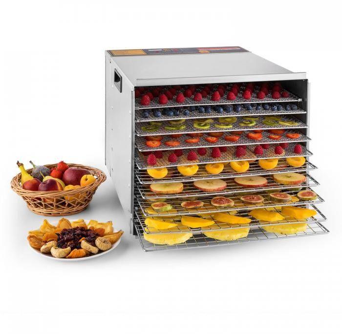 Klarstein Fruit Jerky Steel 10 Automat do suszenia Dehydrator 1000W 10 segmentów stal szlachetna