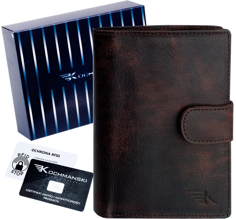 KOCHMANSKI skórzany portfel męski młodzieżowy 3064