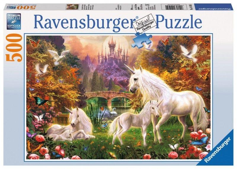 Puzzle Raven 500 - Magiczne Jednorożce, Magical Unicorns