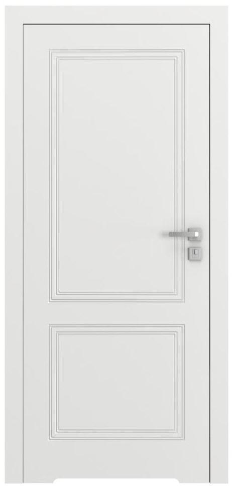 Skrzydło drzwiowe bezprzylgowe z podcięciem wentylacyjnym Vector V Białe 90 Lewe Porta