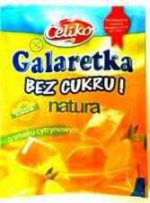 Galaretka o smaku cytrynowym bez cukru 14g Celiko