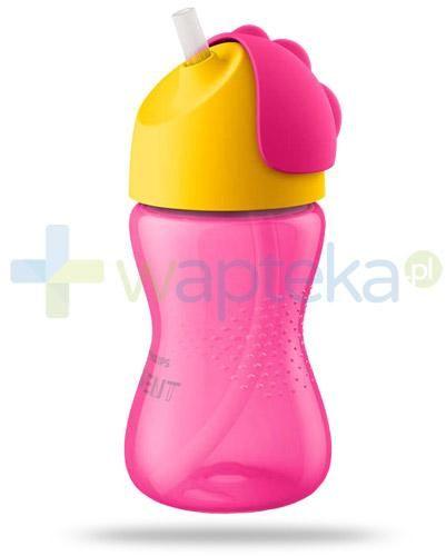 Avent Philips różowy kubek z giętką słomką 300 ml dla dzieci 12m+ [SCF798/02]
