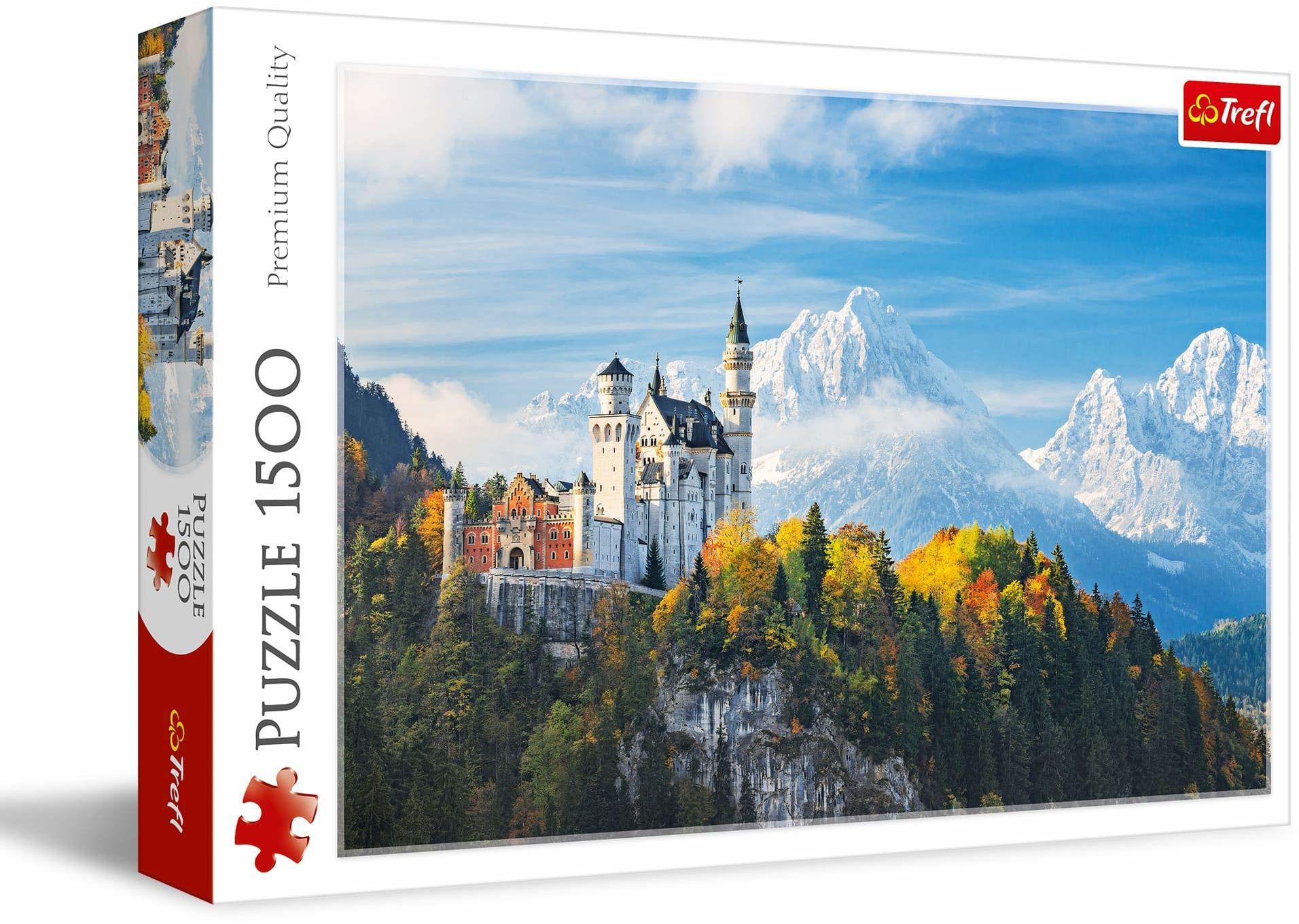 Trefl Alpy Bawarskie Puzzle 1500 Elementów o Wysokiej Jakości Nadruku dla Dorosłych i Dzieci od 12 lat