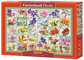 Puzzle Castor 1000 - Zabytkowe kwiaty, Vintage Floral