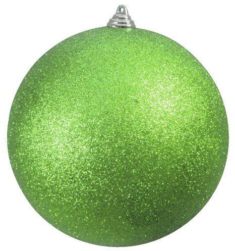 Europalms Decoball zielone jabłko brokat, 20 cm