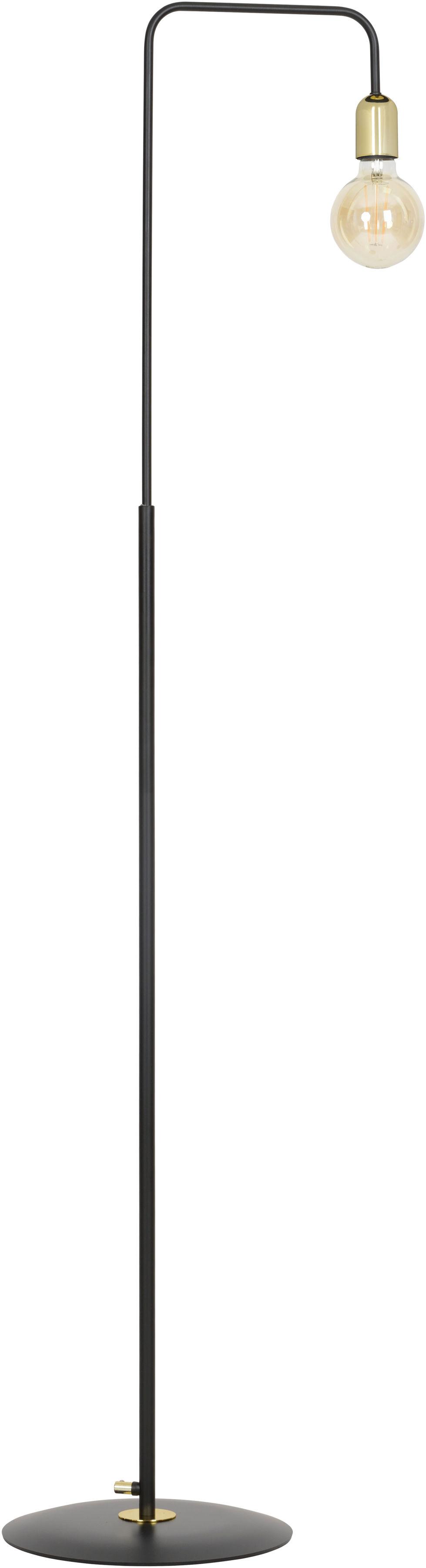 Emibig JUKA LP1 BLACK 580/LP1 lampa podłogowa czarno złota metal loftowa 1x60W E27 150cm