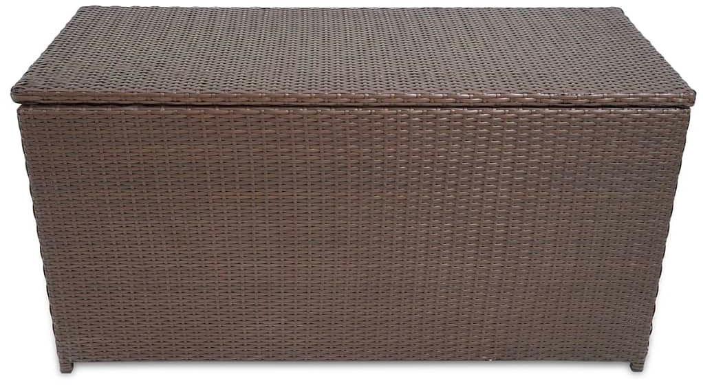 Brązowa prostokątna skrzynia z technorattanu - Artin 5X