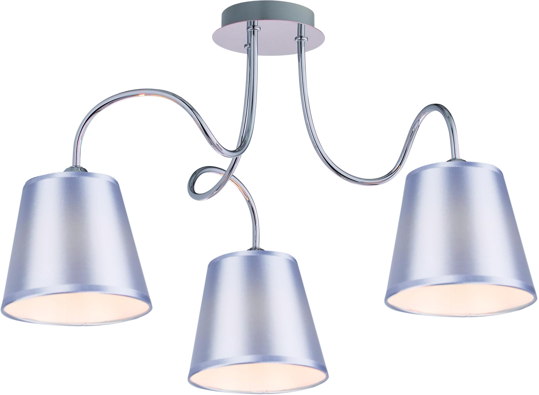 Candellux LUK 33-70746 plafon lampa sufitowa abażur 3x40W E14 chrom 60cm
