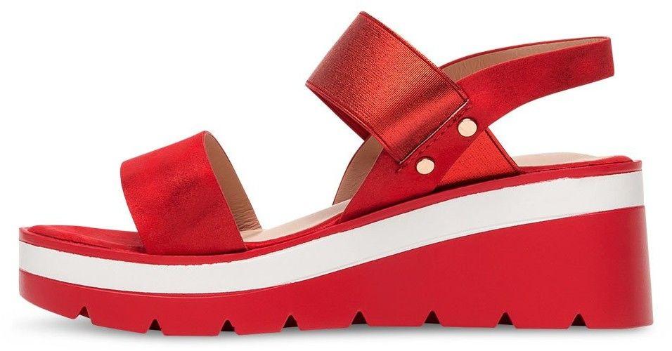 Sandałki damskie Shoesita 6293 Czerwone
