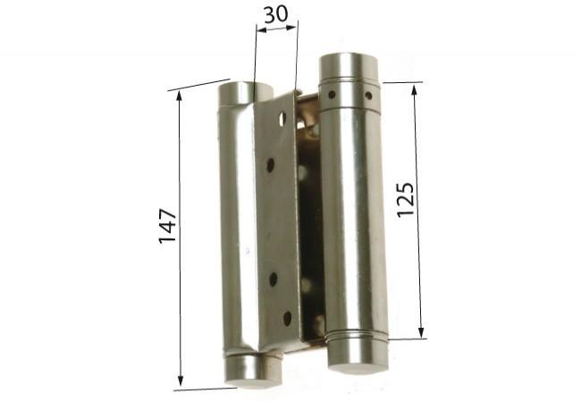 Zawias sprężynowy wahadłowy 125 mm niklowany