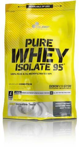 Olimp Pure Whey Isolate 95, 600g - najczęściej wybierana odżywka białkowa!