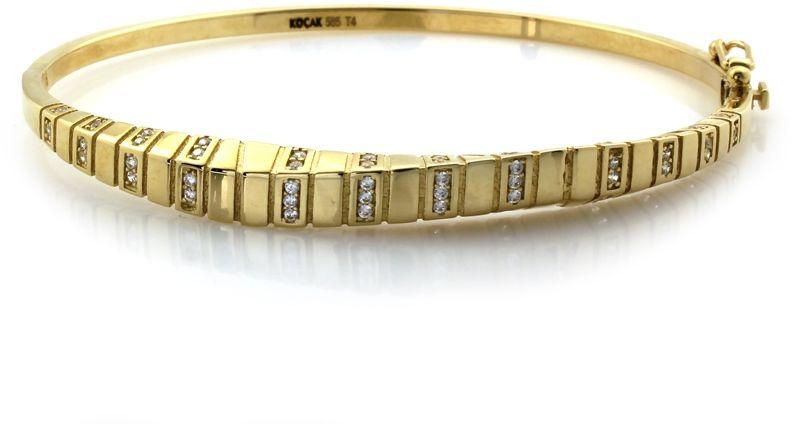 Złota szeroka bransoletka 585 marina gucci 7.35g