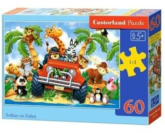 Puzzle Castor 60 - Softies na Safarii, Softies on Safari