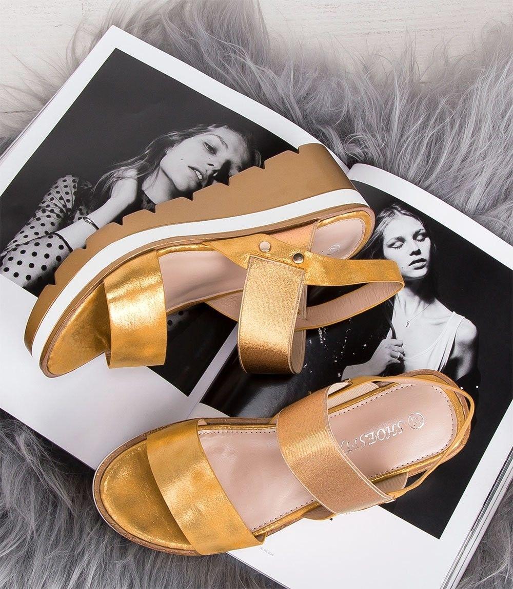 Sandałki damskie Shoesita 6293 Żółte