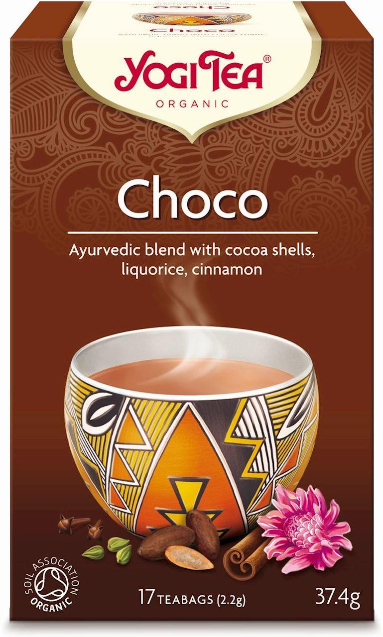 Herbatka czekoladowa z kakao choco bio 17 x 2,2 g 37,4 g - yogi tea