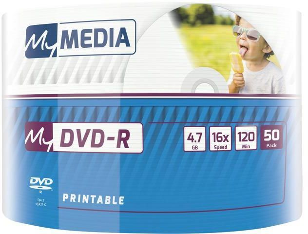MY MEDIA DVD-R 4.7GB X16 PRINTABLE WRAP (50 SPINDLE) 69202