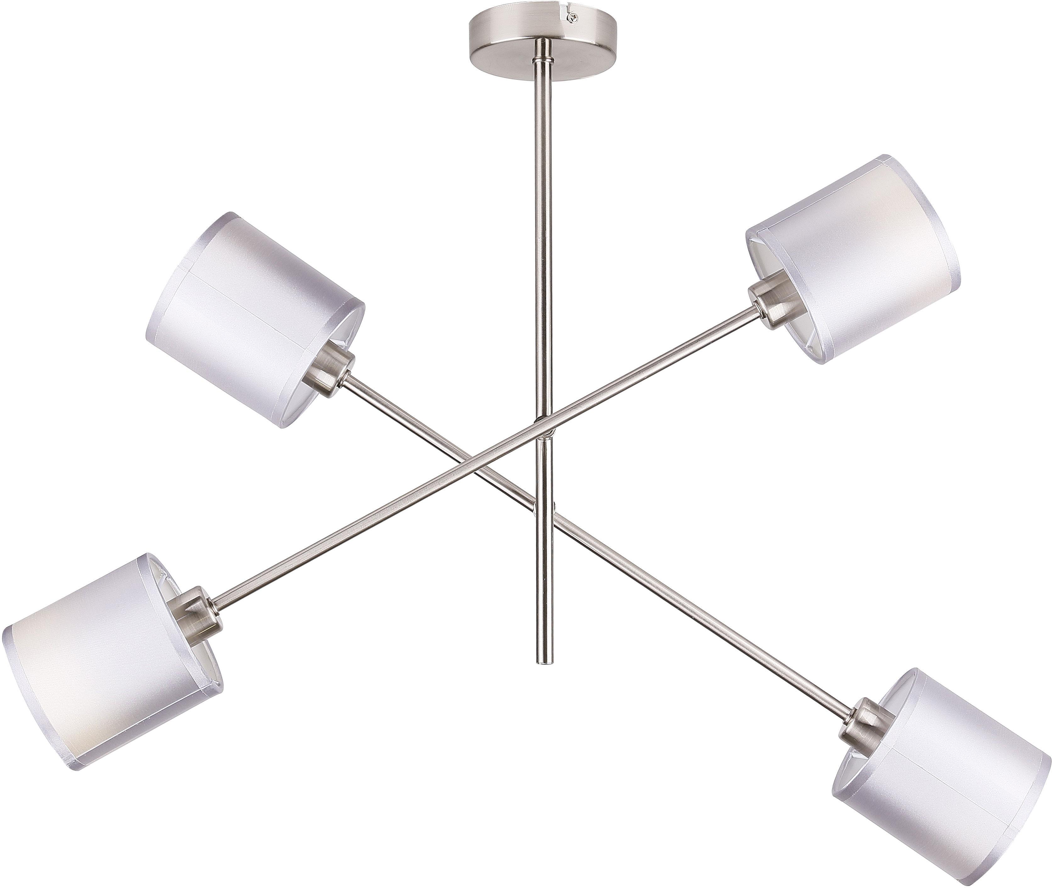 Candellux SAX 34-70692 plafon lampa sufitowa abażur satyna nikiel 4xE14 40W 58cm