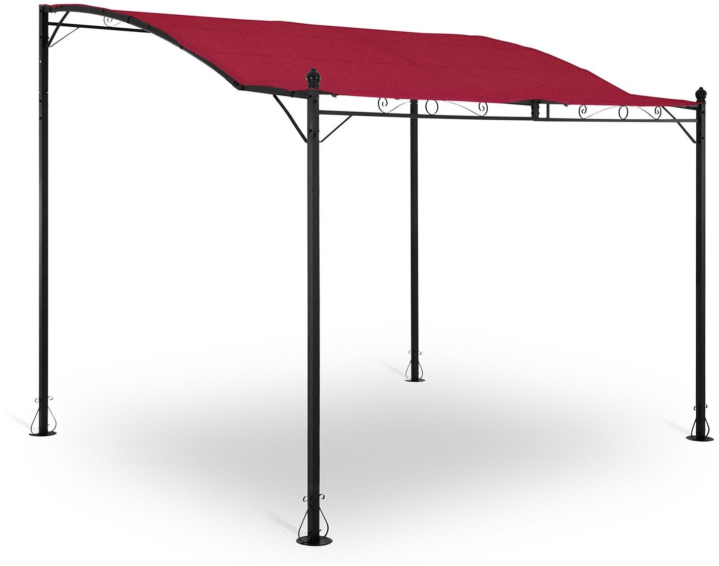 Pergola ogrodowa - 2,6 x 3 x 2,5 m - czerwona - Uniprodo - UNI_GAZEBO_ 3X2.5R - 3 lata gwarancji/wysyłka w 24h