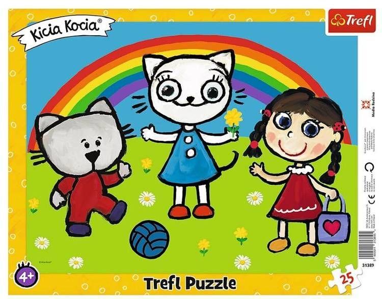 Puzzle 25 ramkowe Pogodny dzień Kici Koci 31389 - Trefl