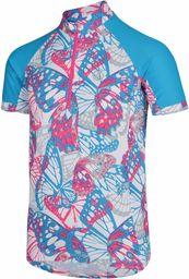 Dare 2b unisex dziecięcy towarzysko lekka szybkoschnąca koszulka rowerowa z półzamkiem błyskawicznym Cyber Pink Size 15-16