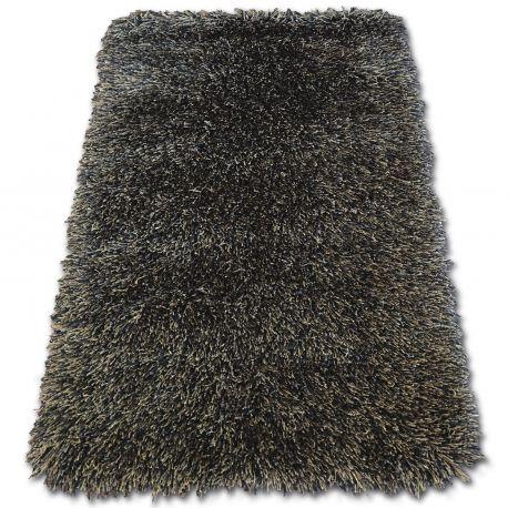 Dywan LOVE SHAGGY wzór 93600 czarny-brąz 60x110 cm