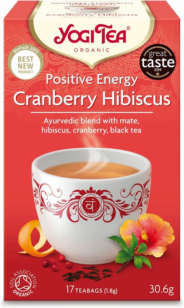 Herbatka pozytywna energia żurawina - hibiskus bio 17 x 1,8 g 30,6 g - yogi tea