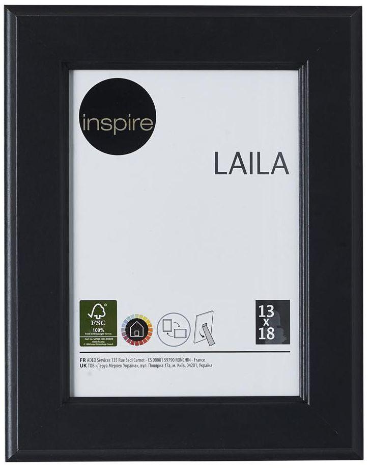 Ramka na zdjęcia Laila 13 x 18 cm czarna MDF Inspire