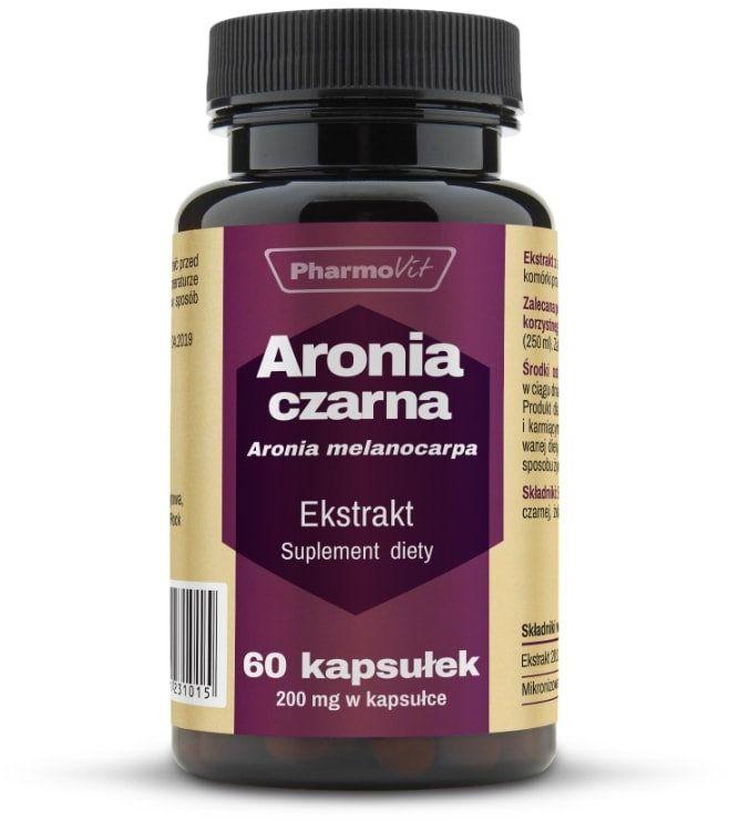 ARONIA CZARNA Ekstrakt 20:1 200 mg (60 kaps) Pharmovit