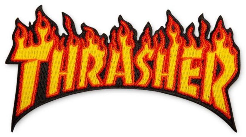 naszywka THRASHER FLAME LOGO PATCH
