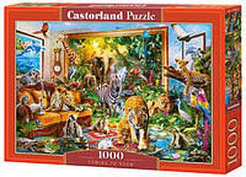 Puzzle Castorland 1000 - Rzeka zwierząt, Coming To Room