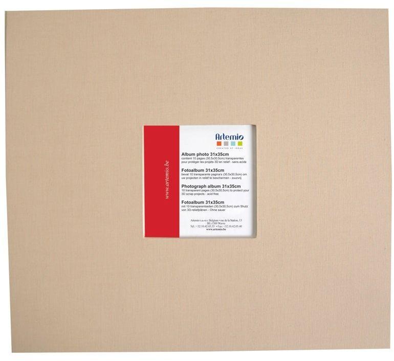 Artemio 30,5 x 30,5 cm album do scrapbookingu, beżowy