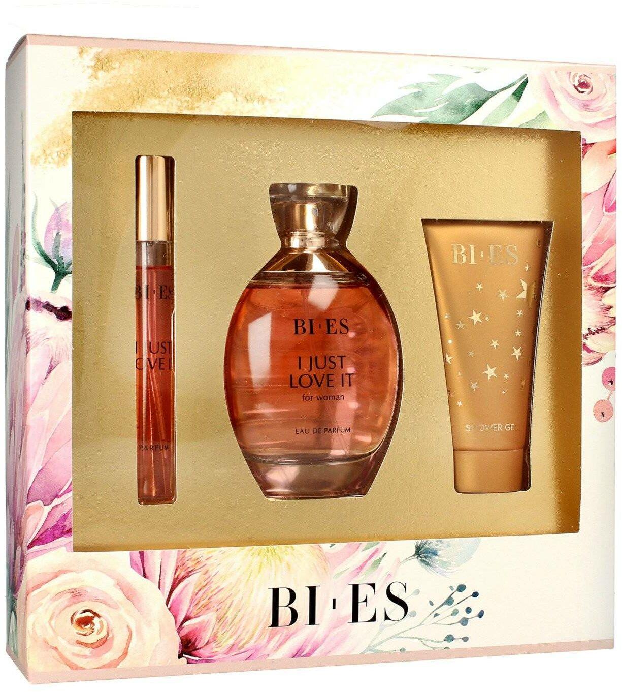 Bi-es I Just Love It Komplet (woda perfumowana 100ml+parfum 12ml+żel pod prysznic 50ml)