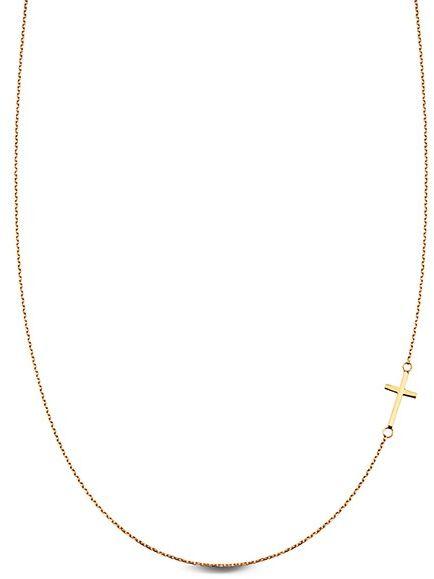 Staviori Naszyjnik Krzyż dł 45cm. Żółte Złoto 0,585.