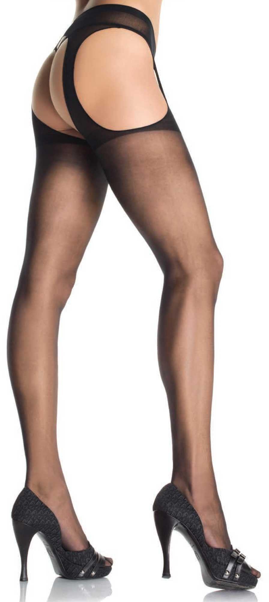 Leg Avenue Sheer Suspender Pantyhose 1901 Black S/M/L