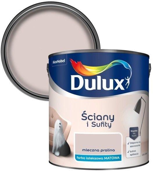 Farba Dulux Ściany i Sufity mleczna pralina 2,5 l