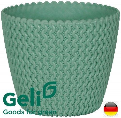 Zielona donica Hipster 22x18cm 5L -40% Promocja