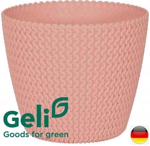 Różowa donica Hipster 22x18cm 5L -40% Promocja